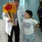 Pacientes  de la Escuelita del  hospital  Roosevelt  festejan   Independencia de Guatemala