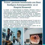 Primer paciente beneficiado con Stent Esofáfico Autoexpandible